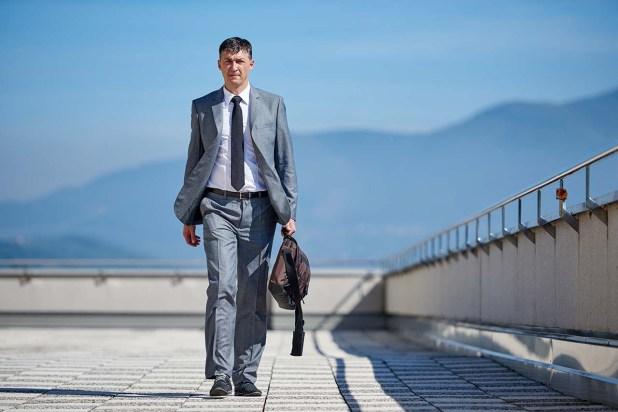 senior businessman outdoors
