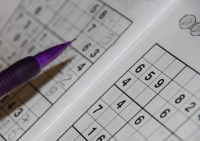 Pencil on a sudoku grid (shallow depth of field)